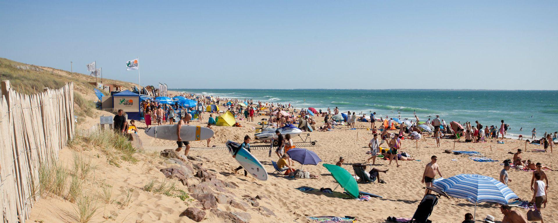 Sport de glisse sur la plage de la Terrière